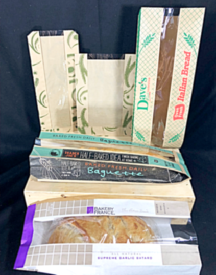 Custom printed Window Bakery Bags