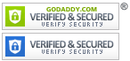 GoDaddy verified and secured seal