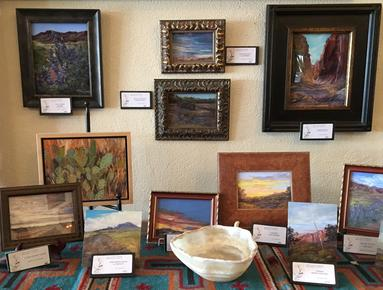 Lindy C Severns fine art originals at the V6 Collection of The Gage, Marathon TX