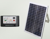 Solar power for electric swing gate operator