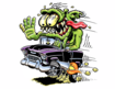 Mad Muscle Garage Logo 55 Chevy Rat Fink