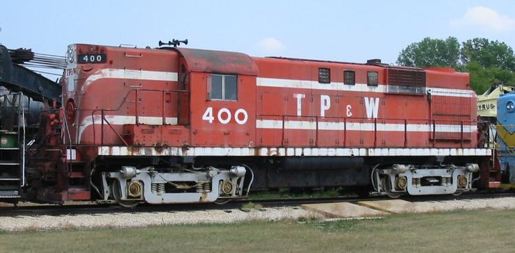 TPW 400, an RS-11 on display at Illinois Railway Museum, July 16, 2005.