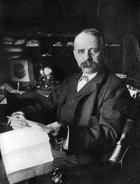 Edward Henry Harriman in his office 1899.