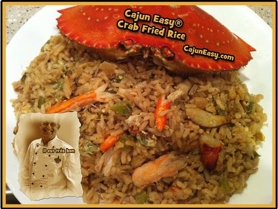Cajun easy crab fried rice crab fried rice ccuart Image collections