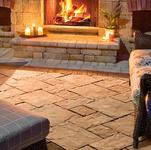 Flagstone paver and permeable driveway paver Thornbury by Unilock