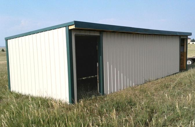 Loafing Shed with two entrances