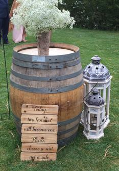 Table Decorations, Wood Rounds, Wine Barrels, Wood Cake Stand