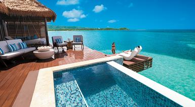 Sandals Royal Caribbean Over Water Pool Deck