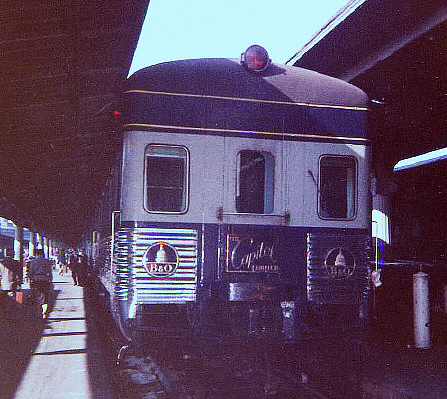 The Baltimore and Ohio Railroad's Capitol Limited, at Union Station, Washington, D. C., circa June, 1961.
