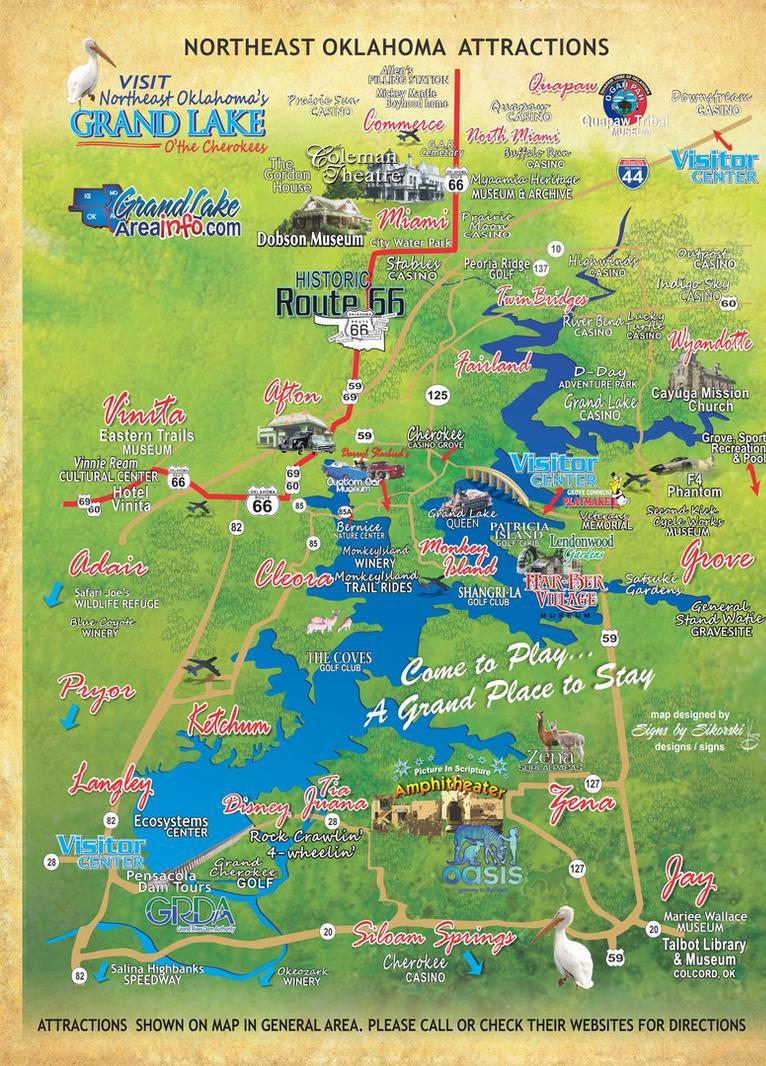 northeast oklahoma attractions map