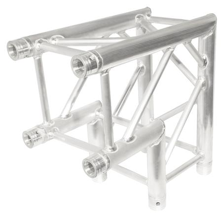 "Aluminum 2 way truss corner for box size truss of 12"" x 12""."