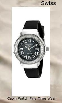 Swiss Legend Women's 20032DSM-01 South Beach Analog Display Swiss Quartz Black Watch,swiss