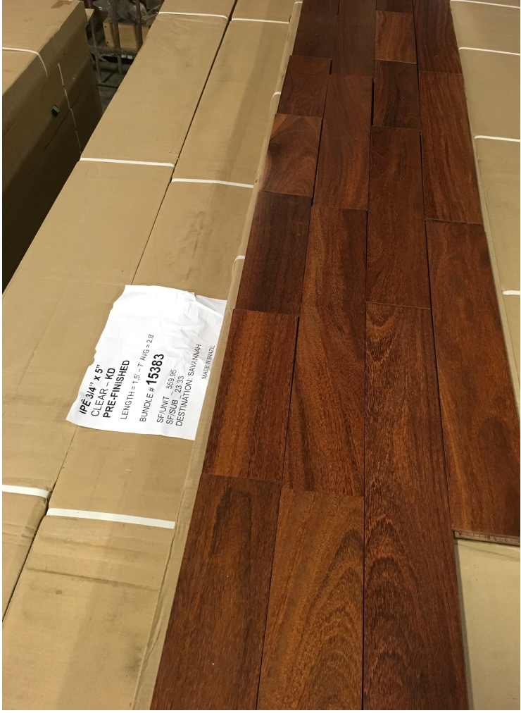 Brazilian Chestnut Pre Finished Lots