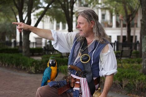 Charleston Pirate Tours guide Eric Lavender