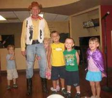 Woody The Cowboy, Toy Story style Party Character