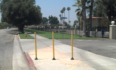 Removal Bollards at CBU Campus