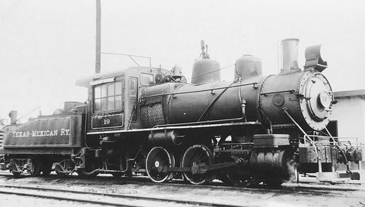 Texas-Mexican Railway 0-6-0 No. 19 at Corpus Christi, Texas, March 22, 1939.