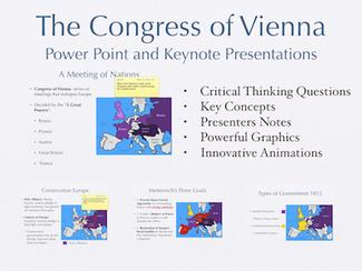 The Congress of Vienna History Presentation