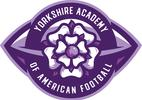 Yorkshire Academy of American Football logo sponsored by Go Shred