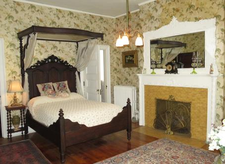 Gladys' Chamber (bed and Breakfast Room) at Rockcliffe Mansion, Hannibal Missouri