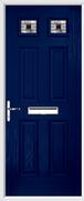 4 Panel 2 Square Composite Door aspen glass