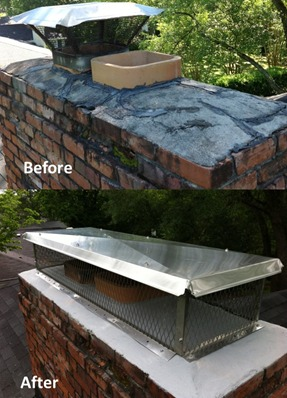 chimney cap and crown repair