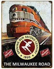 Milwaukee Road Tin Sign