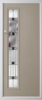 1 strip rebate composite door in grey