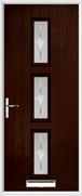 3 Square Composite Door sandblast glass