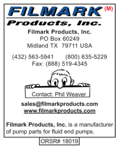 Filmark Products, Pump Parts