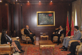 Maryland tax attorney Charles Dillon meeting with the President of Montenegro and other dignitaries
