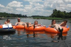 whitewater tubing adventure on the James River, Richmond, Virginia, RVA