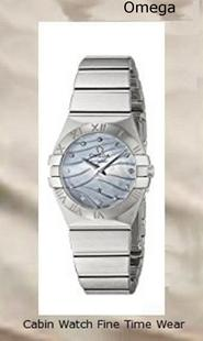 Omega Women's 12310246057001 Constellation Analog Display Swiss Quartz Silver Watch