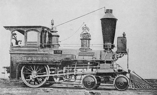 A 4-2-0 of the Hackensack and New York Railroad, 1901.