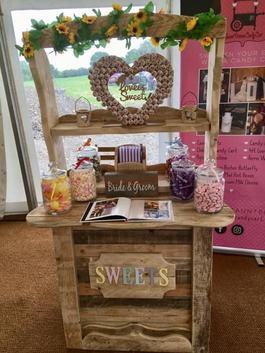 "alt=""rustic candy sweet cart/dresser sweet dreams candy cart. sussex"""