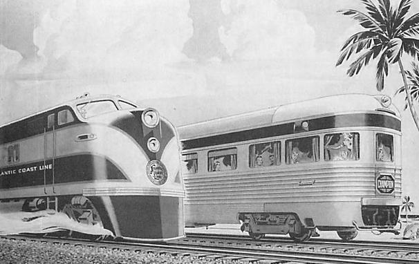 Postcard depiction of the Eastbound and Westbound Champion.