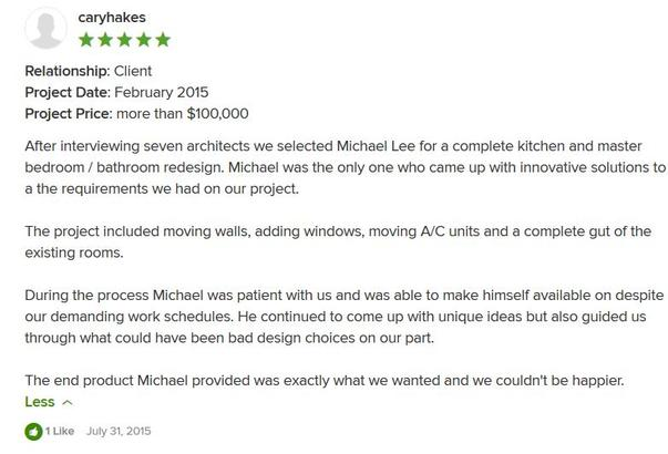Cary Hakes Houzz 5 Star Review