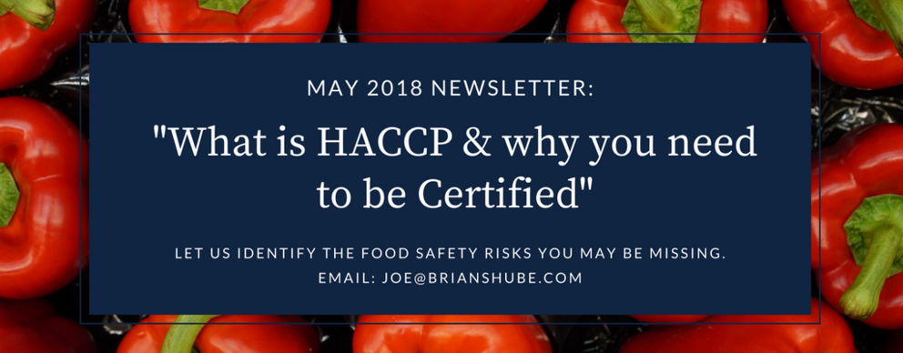 Brian Shube Consulting , What is HACCP , International Trade, Why are you not exporting? , Blog post, Import, Export Specialists