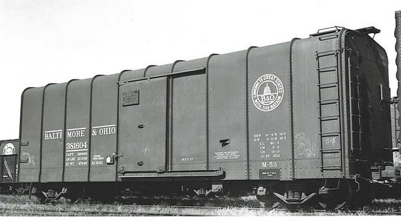 A Baltimore & Ohio Wagontop boxcar.