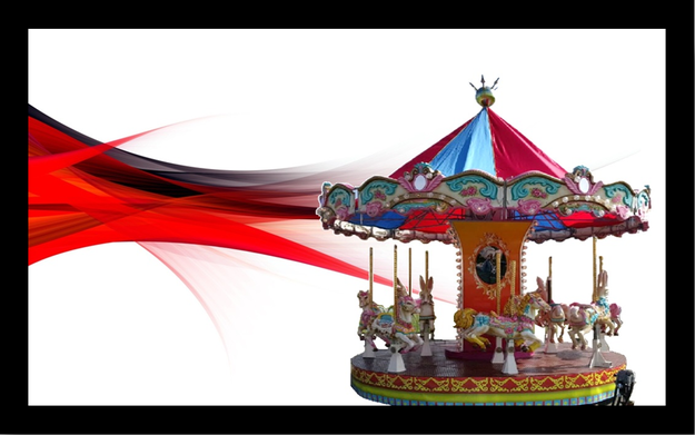 carousels for sale on red background