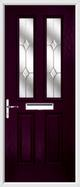 2 panel 2 square composite door jewel glass