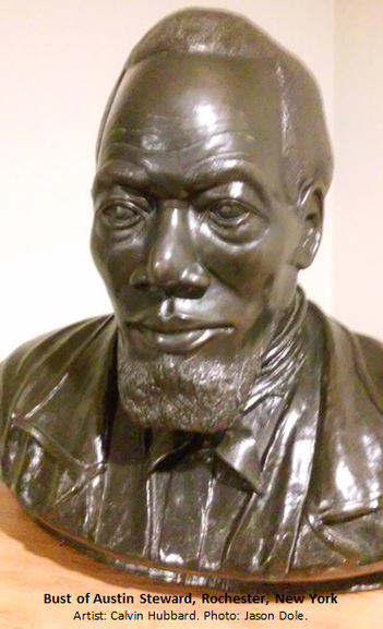Bust of Austin Steward, Rochester, NY