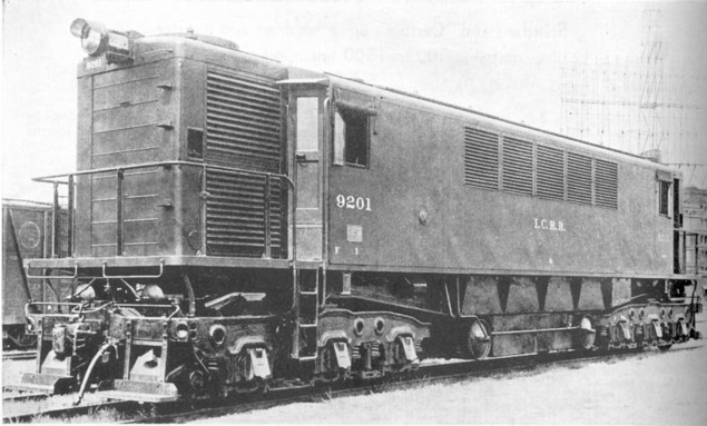 The Illinois Central's only GE-Busch-Sulzer Transfer Locomotive, No. 9201.