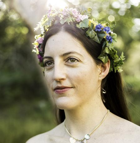 Faerie Crown, wildish crown, woodland, floral, flowers
