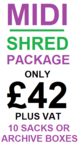 Midi Shred Domestic Shredding Pricing