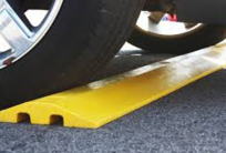plastic speed bump with channels