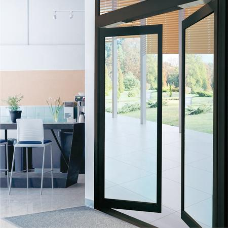 Concealed automatic swing door residential