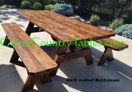 Picnic Table And Bench Pricing - How to stain a picnic table