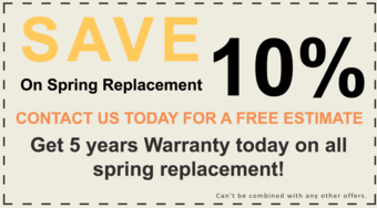 Garage door broken spring coupon