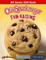 Otis Spunkmeyer Cookies and Pizza fundraising brochure